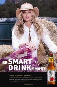 Jessica Simpson beer ad.